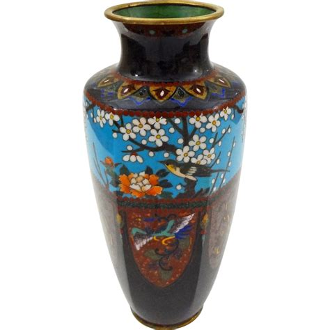 Japanese Cloisonne Vase by Japanese Cloisonne Vase Meiji Period Late 19th Early