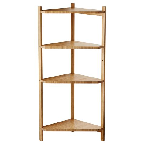 r 197 grund corner shelf unit ikea plant stand made of bamboo also comes in a taller version