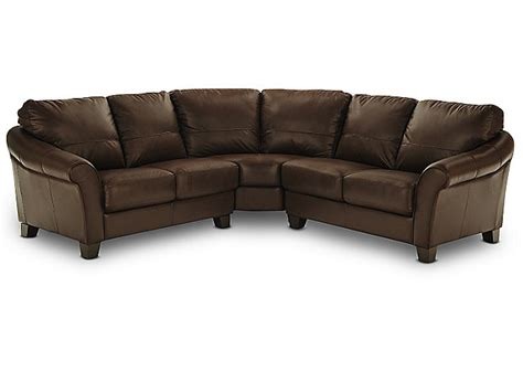 hom furniture sectionals wagner 3 piece leather sectional hom furniture