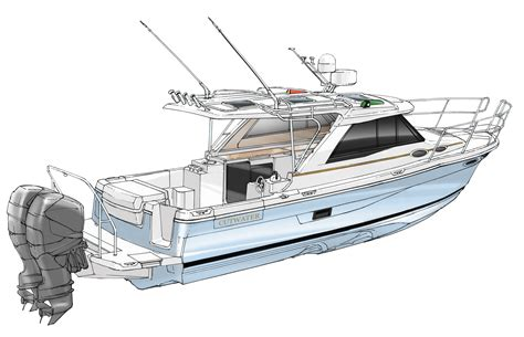 cutwater boats with outboards cutwater boats debuts two new models c 24 sport coupe and