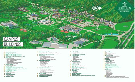 maps  directions southern adventist university