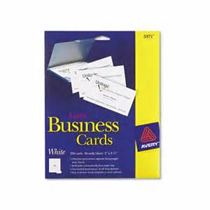 avery laser business cards avery avery 5371 laser business cards 2 x 3 1 2 white