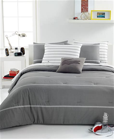 Lacoste Bedding Sets Closeout Lacoste Home Thames Grey Comforter Sets Bedding Collections Bed Bath Macy S