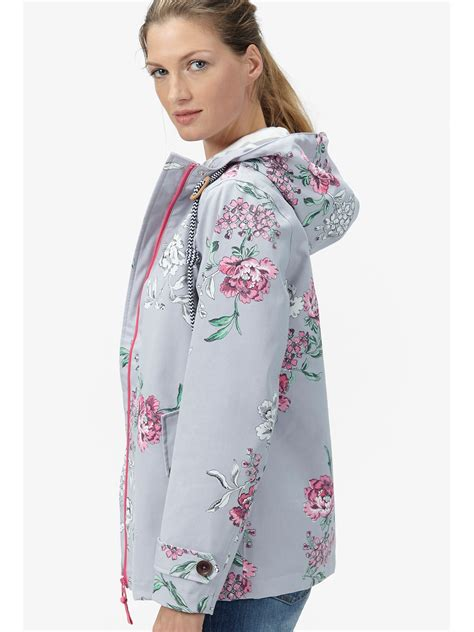Set 3in1 Annica Flower Shirt Grey Vest With Black Skirt lyst joules right as coast floral print waterproof jacket