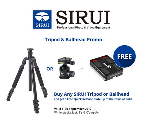 Tripod Promos sirui september promos company cape town south africa
