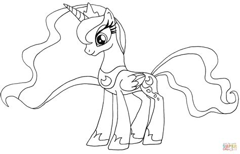 my little pony coloring pages princess luna and celestia my little pony princess luna coloring page free