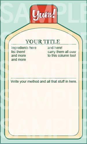 free drink card template bottled drink recipe card templates free printables