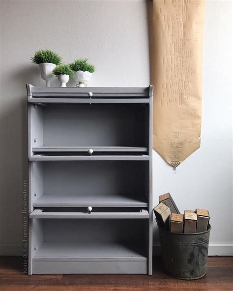 Cabinet in Seagull Gray & Lamp Black Custom Color Mix