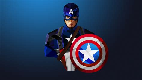 captain america  poly art wallpapers hd wallpapers