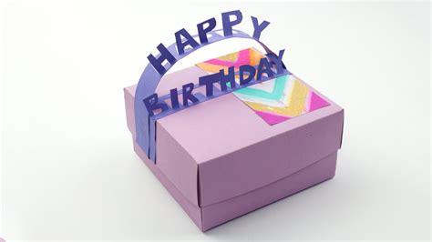 diy happy birthday gift box youtube