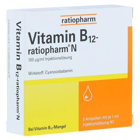 Vitamin N Vitamin B12 Ratiopharm N Ullen 5x1 Milliliter N1