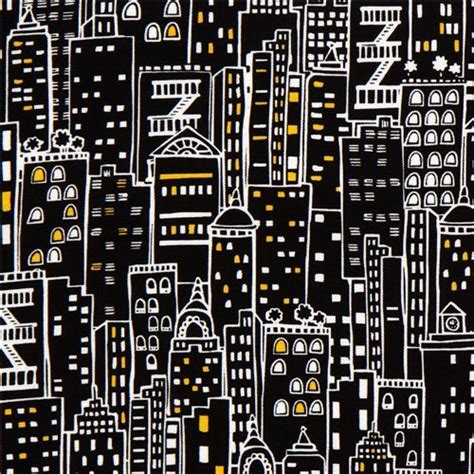 new york upholstery black designer fabric with city skyscraper new york