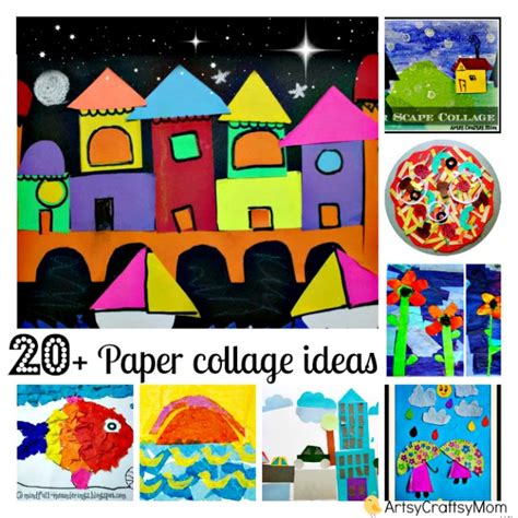 How To Make A Collage With Paper - 20 simple paper collage ideas for artsy craftsy