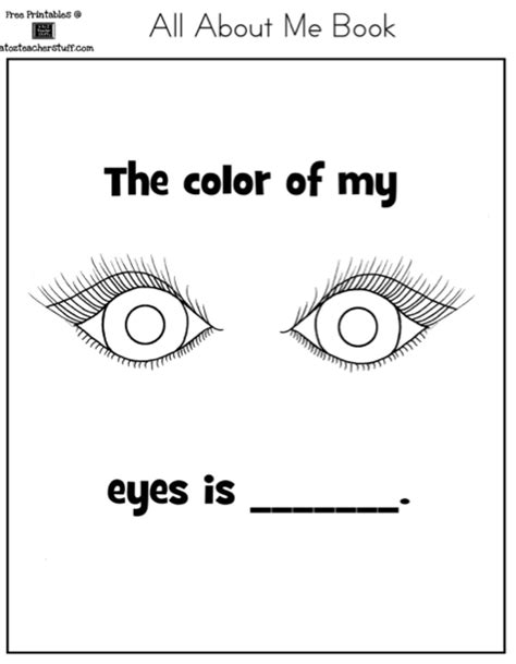 preschool eye coloring page autism tank all about me book and worksheet