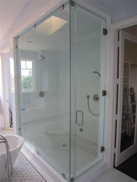 Large Shower Units Large Frameless Glass Enclosure Patriot Glass And Mirror