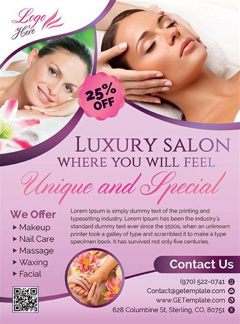 Spa And Beauty Premium Psd Flyer Template Getemplate Com Flyer Template Pinterest Psd Free Skin Care Brochure Templates