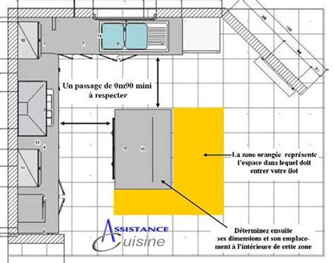 Dimensions Standard D Une Cuisine by Ilot De Cuisine Dimension Cuisine En Image