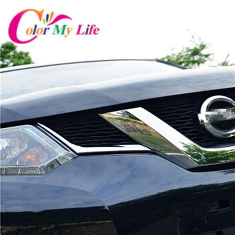 Sticker Mobil Nissan X Trail Stiekr Nissan X Trail Back Side Medium abs chrome front grille decoration cover trim stickers