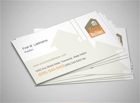 building construction business card templates home building new home construction services business