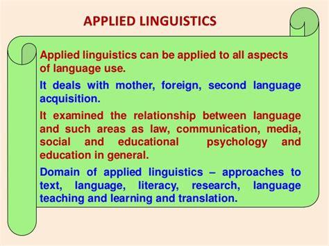 Applied Linguistics by Linguistics Vs Applied Linguistics