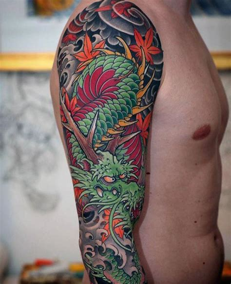 japanese dragon tattoo sleeve 70 arm designs for breathing ink