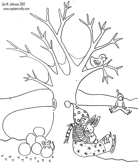 winter tree coloring page www imgkid com the image kid