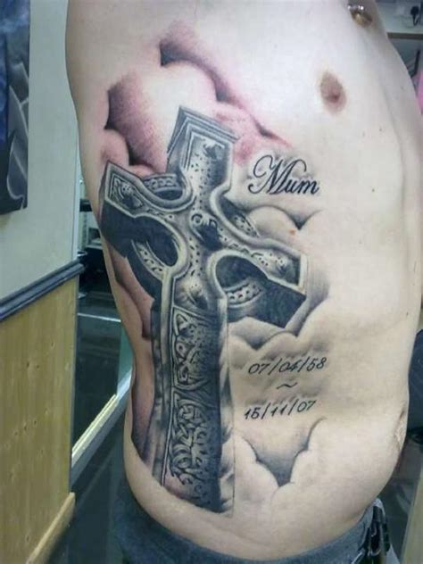 cross tattoos on rib cage 46 celtic cross tattoos designs