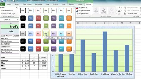 excel tutorial 2010 video free excel 2010 tutorial for beginners 10 charts pt 1
