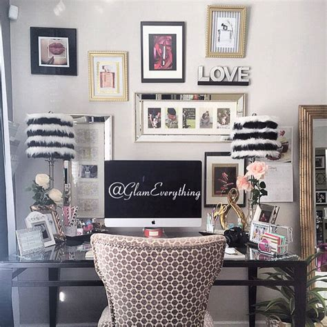 glamorous home office beauty roomwatch the room tour