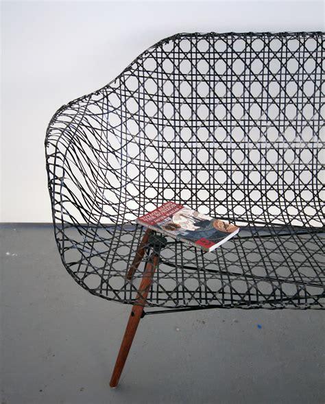 carbon fiber couch matthew strong weaves carbon fiber eames sofa