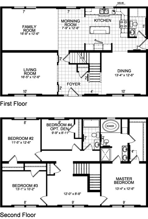 floor plan of two story house ontario model 618 two story modular home s homes