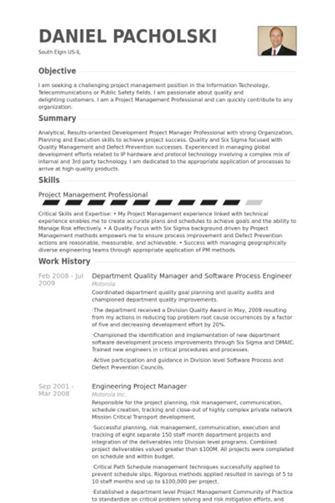 quality manager resume sles visualcv resume sles