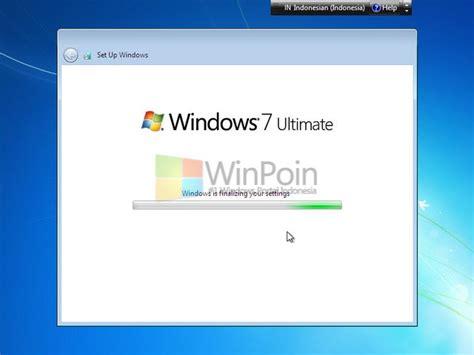 tutorial lengkap instal windows 7 ultimate cara instalasi windows 7 lengkap beserta gambar winpoin