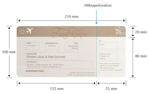 hochzeitseinladungen erstellen ausgefallene hochzeitseinladung als flugticket boarding pass