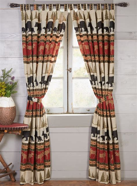 black bear curtains woodland trails bear drapes