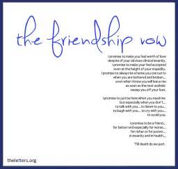 thank you letter to a friend for being there to all my friends till do we part memorable