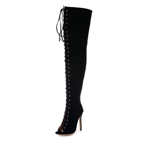popular knee high boots for thin legs buy cheap knee high