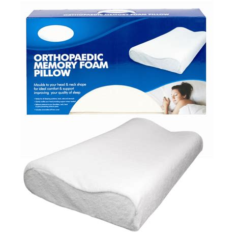 back relief pillow contour memory foam pillows set firm pair neck back