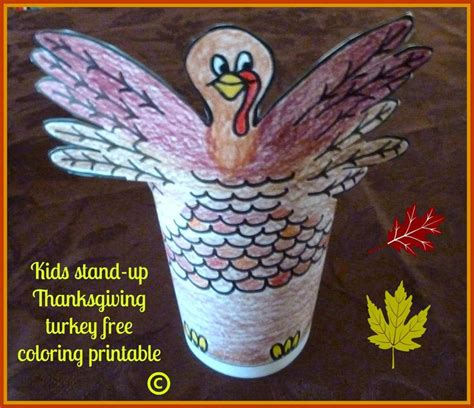 printable stand up turkey 39 best easy crafts for kids images on pinterest easy