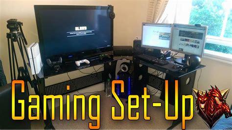 gaming setup ps4 my gaming setup video on youtube gamingsetups