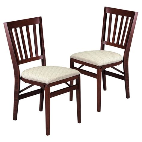 stakmore school house wood folding chairs with upholstered