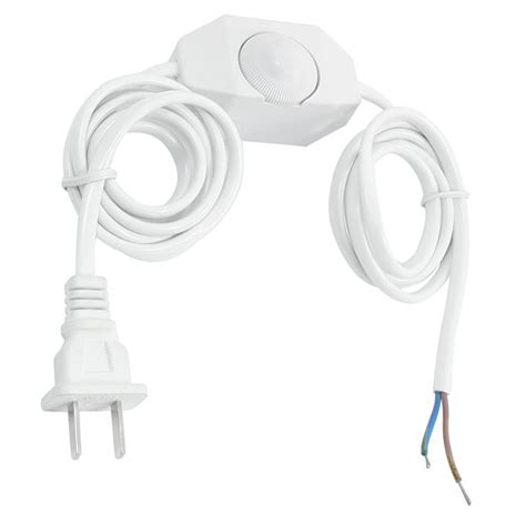 light cord with switch white l power cord w dimmer switch ac 250v 110v us plug