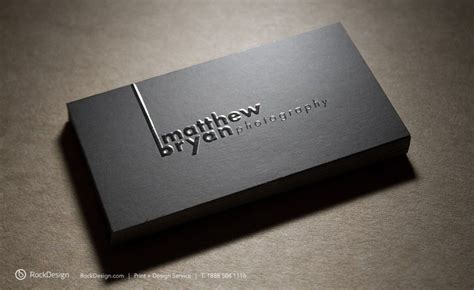 business card template embossed rockdesign style business cards emboss business