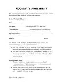 Free Lease Agreement Template Word Free Roommate Room Rental Agreement Template Pdf