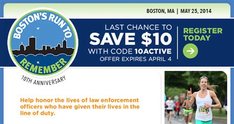 bostons run to remember half marathon and 5 miler last chance to save 10 off boston s run to remember half