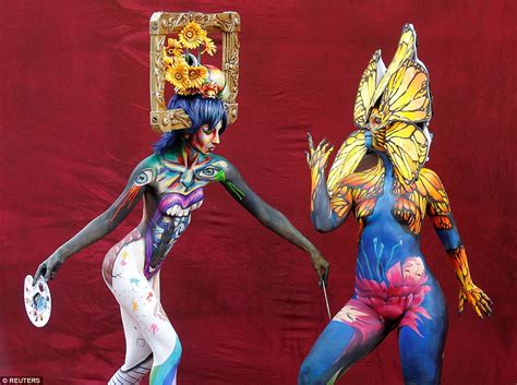 festival de painting austria world bodypainting festival models turn themselves into