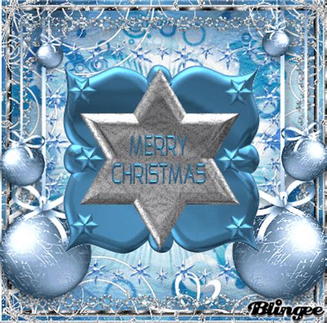 blue silver merry christmas picture  blingeecom
