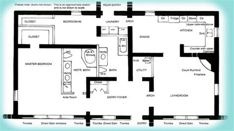 solar adobe house plan 1576 affordable solaradobe house