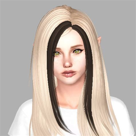 The Sims 3 Hairstyles by The Sims 3 Skysims 147 Two Colors Hairstyle Retextured By