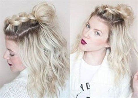 hairstyles for short hair put it up half up half down hairstyles for short hair hacks